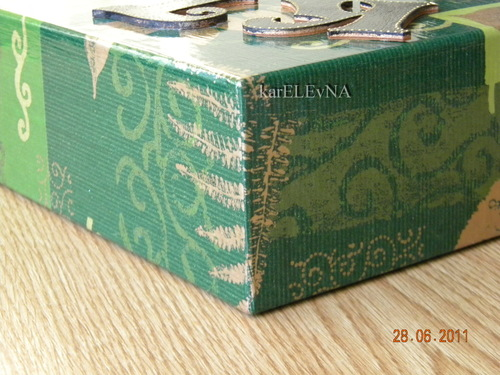 коробка, подарок, декупаж, буквы, karelevna, dekupažas, decoupage, box for present, dežutė