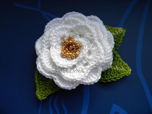 Вязание крючком вязаные цветы роза