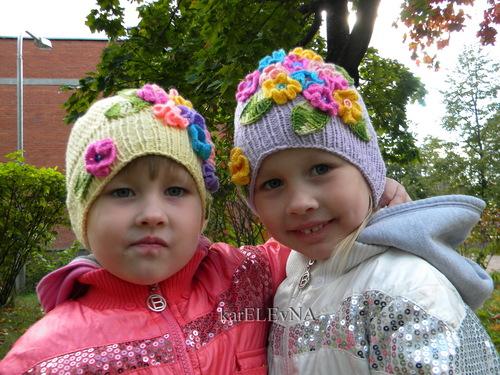 Вязание крючком шапочка для девочки для осень