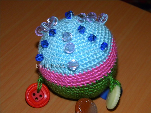 погремушка шарик вязание крючком mezgimas vąšėlių barškutis karELEvNA rattle crocheting ball