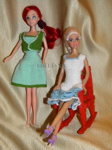 clothes for dolls Barbie crocheting одежда для кукол одежда для Барби вязание куклам крючком karELEvNA