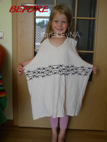 папина, футболка, переделка, платье, dress, T-short, girl
