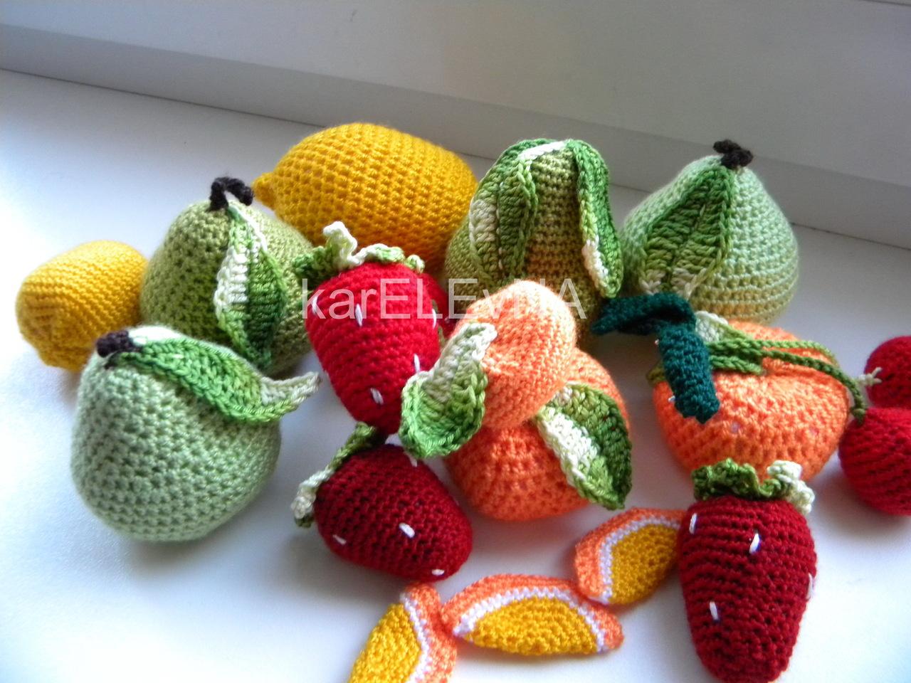 Вязание крючком фруктов с описанием 298