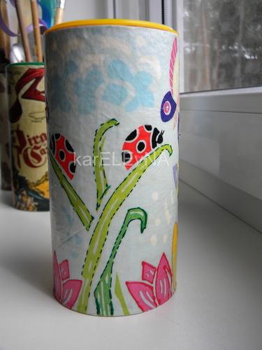 декупаж баночки HIPP decoupage jar