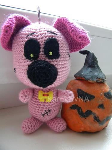 амигуруми собака amigurumi dog