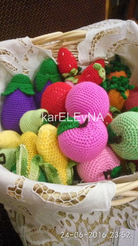 фрукты овощи крючком fruits vegetables hook fruktai daržovės amigurumi banana
